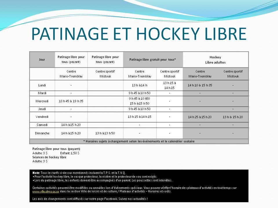 Pat et hockey libre